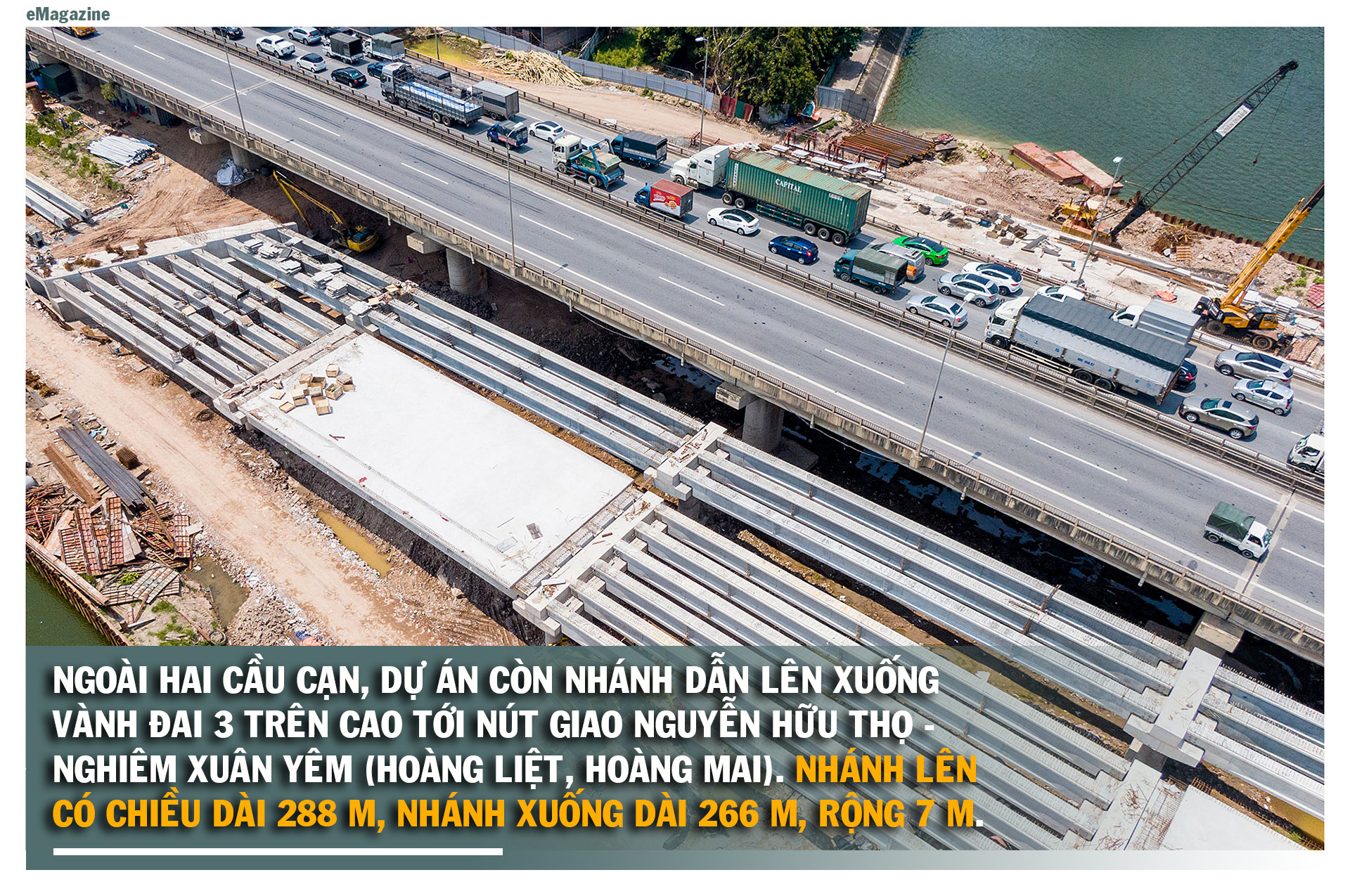 Toàn cảnh cầu hàng trăm tỷ vượt qua hồ nước đẹp bậc nhất Hà Nội - 8