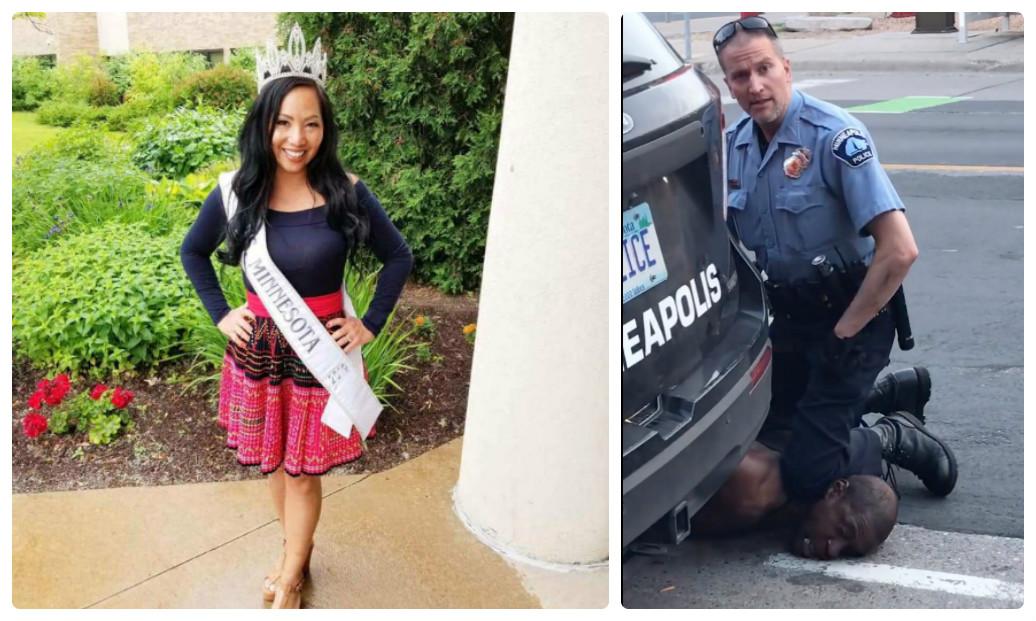 """Viên cảnh sát dùng đầu gối đè cổ chết người nhận thêm """"quả đắng"""" từ vợ là nữ hoàng sắc đẹp - 1"""