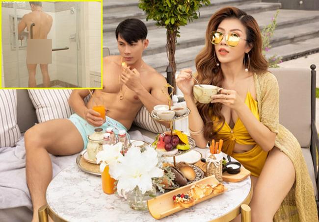 """Đầu năm 2020, Trang Pháp gây chú ý khi tung MV """"Fabulous""""có cảnh nóng 18+ quá đà. Trong một cảnh quay, vòng ba của diễn viên không che chắn bị lộ trước ống kính."""