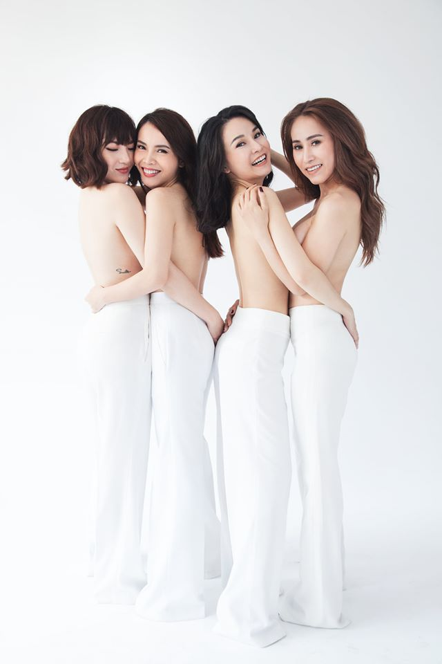 """4 """"chị đẹp"""" nhóm Mây Trắng """"đồng bộ hóa"""" với vest - 1"""