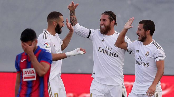 Video highlight trận Real Madrid - Eibar: Phủ đầu choáng váng, rượt đuổi Barca (La Liga trở lại) - 1