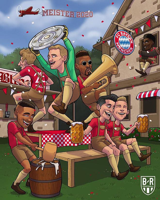 """Ảnh chế: Bayern Munich chính thức vô địch """"giải đấu tập BayernLiga"""" - 1"""