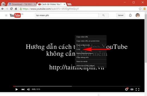 Thủ thuật tự động phát lại video trên YouTube - 1