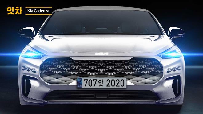 Kia K7 thế hệ mới thay đổi toàn diện về thiết kế và mang logo mới - 1