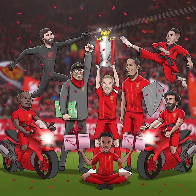 """Ảnh chế: Liverpool chính thức vô địch ngoại hạng Anh khiến fan MU """"cay đắng"""" - 1"""