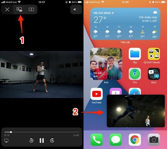 Cách xem video YouTube trên iPhone khi đang mở ứng dụng khác - 2