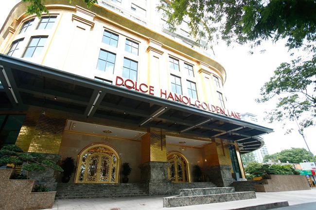 Khách sạn Hà Nội Golden Lake nằm bên hồ Giảng Võ (Hà Nội)