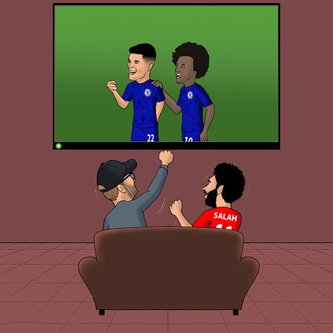 Ảnh chế: Tầm ảnh hưởng của Chelsea đến chức vô địch của Liverpool - 1