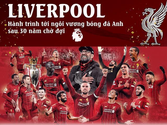 Bóng đá - Liverpool vô địch Ngoại hạng Anh: Siêu kỳ tích 30 năm, hay nhất lịch sử vì sao?