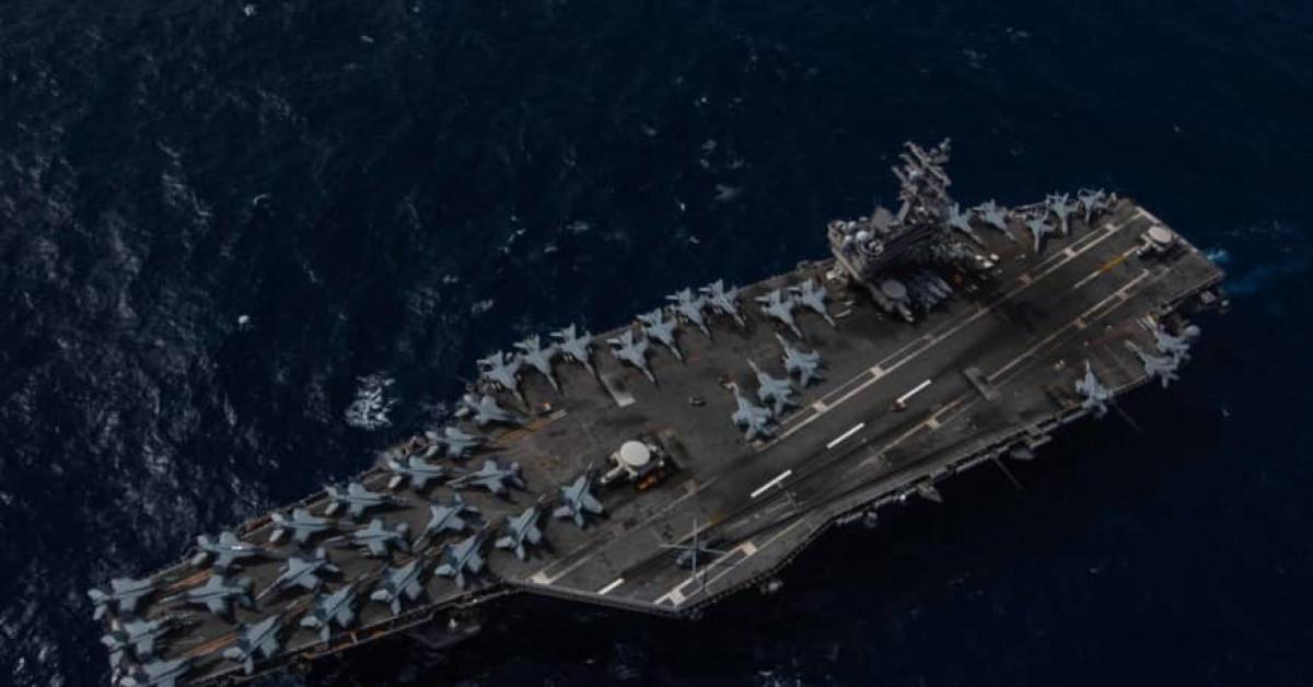 2 tàu sân bay Mỹ diễn tập sau khi ông Pompeo 'nhắn' Trung Quốc - 1