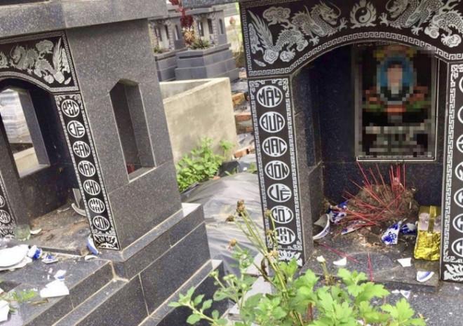 Hải Phòng: Công an vào cuộc điều tra nhiều ngôi mộ bị đập phá bất thường - 1