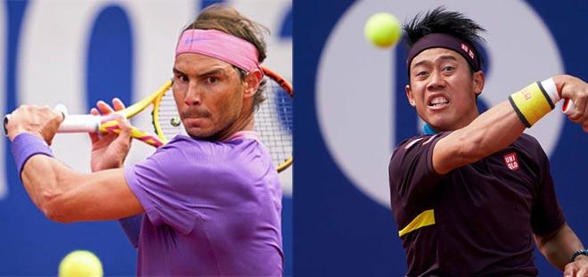 Video tennis Nadal - Nishikori: Rượt đuổi hấp dẫn, set 3 thăng hoa (Vòng 3 Barcelon Open) - 1