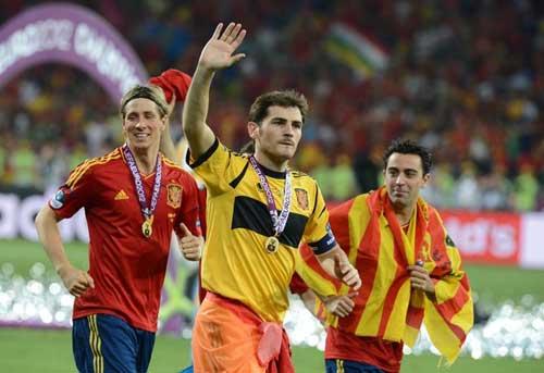 Casillas, Xavi & Torres cùng lập kỉ lục - 1