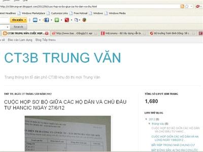 Dùng blog kiện đòi chung cư - 1