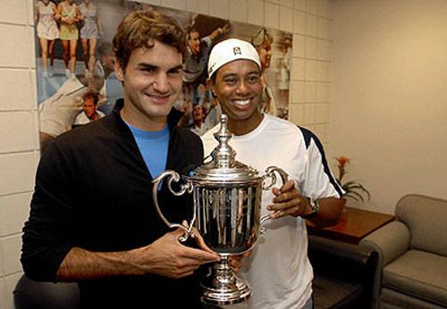 Federer bật mí: Tiger Woods là động lực - 1