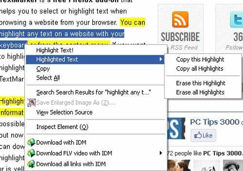 Highlight văn bản ngay trên trình duyệt Firefox - 1
