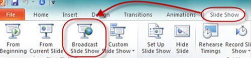Hướng dẫn trình chiếu file PowerPoint 2010 qua Internet - 1