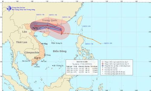 Bão số 4 gây mưa rất to ở Bắc Bộ và Thanh Hóa - 1
