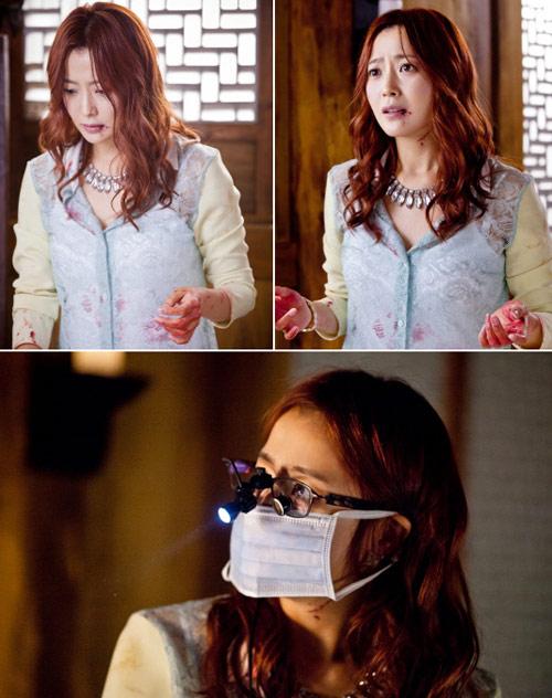 Kim Hee Sun đóng cảnh bê bết máu - 1