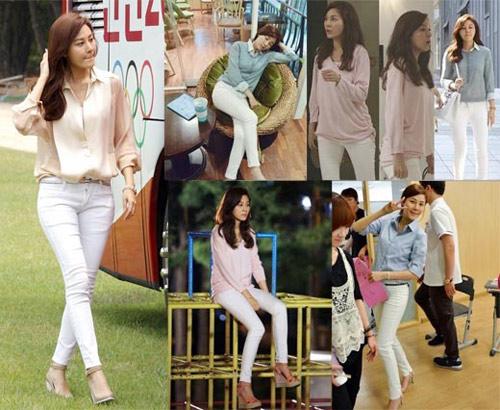 Mặc skinny jeans chuẩn như Kim Ha Neul - 1