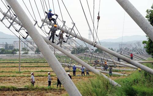 Chùm ảnh: Bão Haikui tàn phá Trung Quốc - 1