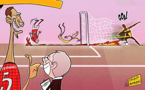 Biếm họa: Usain Bolt ra mắt Sir Alex Ferguson - 1