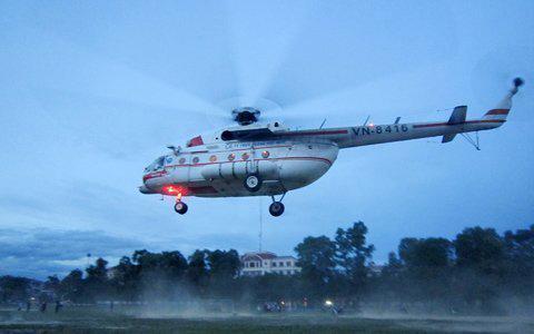Hà Tĩnh: Đi cấp cứu bằng máy bay trực thăng - 1