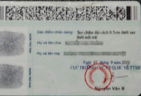 Chính thức dừng cấp CMND ghi tên cha mẹ - 1