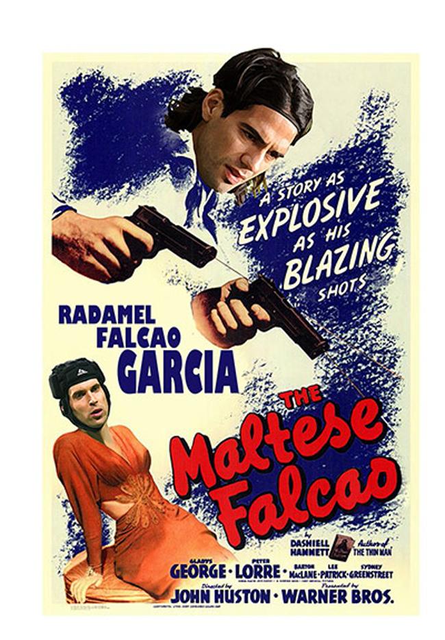 Falcao đã biến thủ thành Cech của Chelsea thành 'đàn bà' với 3 phát đạn ở trận tranh Siêu Cup châu Âu vừa qua.