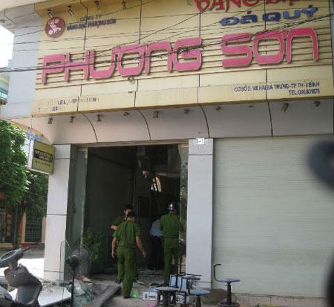 Thái Bình: Vụ nổ kinh hoàng tại tiệm vàng - 1