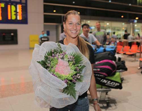 Tay vợt nữ số 13 TG Cibulkova đã đến VN - 1