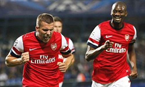Montpellier - Arsenal: Podolski lại nổ súng - 1