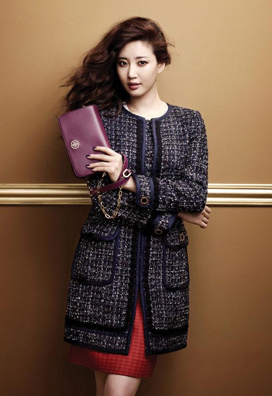 Học hoa hậu Hàn khoe chân trong mùa lạnh - 1