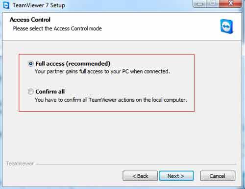 Giới hạn quyền điều khiển từ xa cho Teamviewer - 1