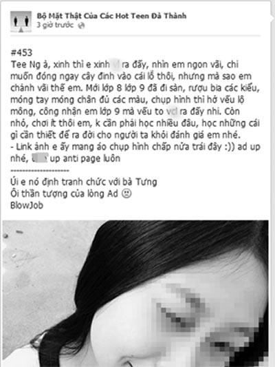 Nữ sinh tự tử vì trang Facebook 'Hot Teen Đà Thành' - 1