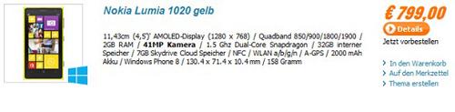 Nokia Lumia 1020 có giá khủng 22 triệu đồng - 1