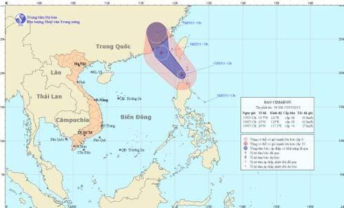 Xuất hiện bão gần biển Đông - 1