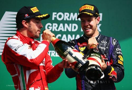 F1: Alonso tâng bốc Vettel - 1