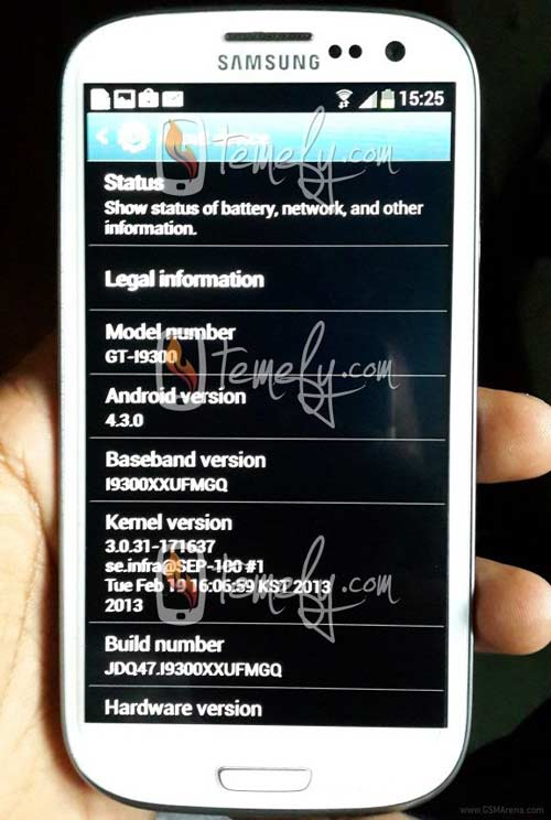 Xuất hiện Samsung Galaxy S3 chạy Android 4.3 - 1