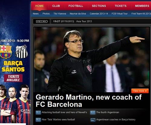 Martino chính thức dẫn dắt Barca - 1