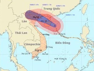 Bão số 5 cách bờ biển Quảng Ninh-Nam Định 410 km - 1