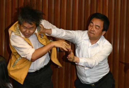 """Nghị sĩ Đài Loan lại """"tưng bừng"""" ẩu đả - 1"""