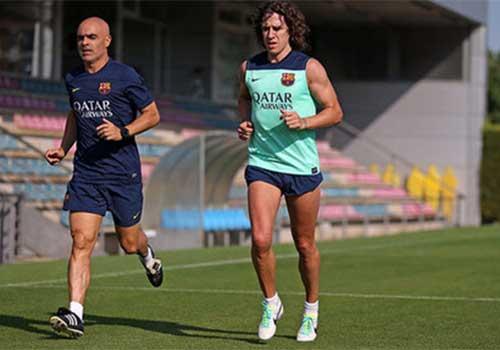 Barca: Puyol trở lại tập luyện - 1