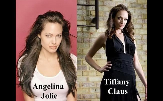 Rachelas cũng có cách trang điểm giống y hệt Angelina.