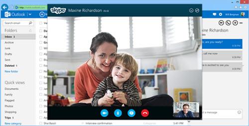 Microsoft tích hợp Skype vào Outlook - 1