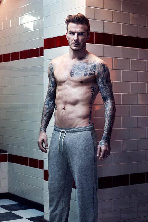 David Beckham khoe cơ bắp với đồ lót - 1