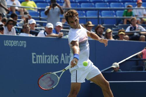 Cận cảnh Federer chuẩn bị cho US Open - 1