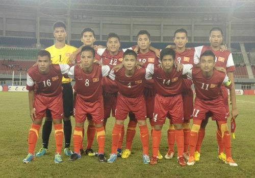 U16 VN thua trận đầu tiên ở giải U16 ĐNA - 1