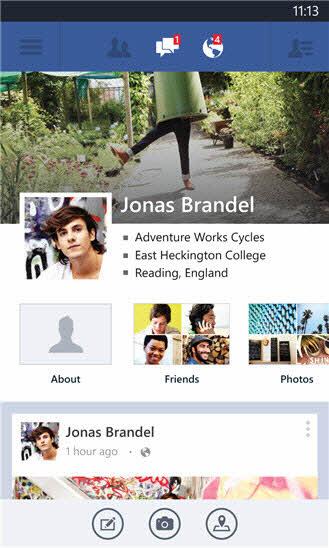 Ứng dụng Facebook trên Windows Phone được làm mới - 1