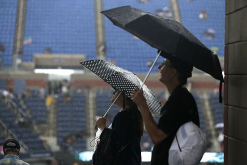 """US Open 2013 trước """"đại họa"""" trời mưa - 1"""